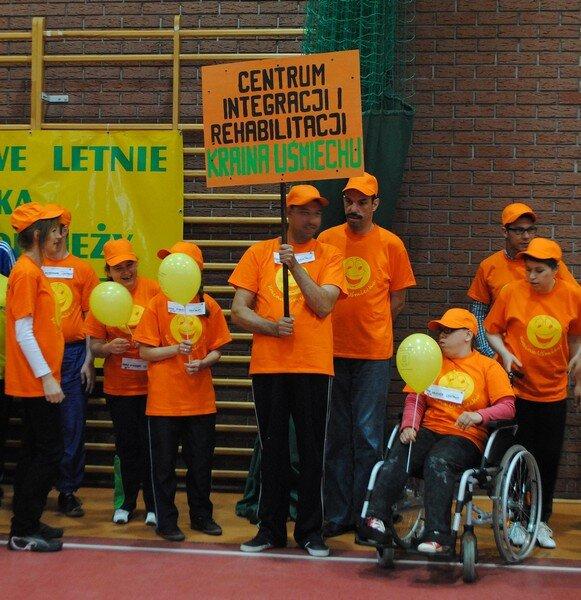 nasza drużyna na dwunastych powiatowych igrzyskach dzieci i młodzieży niepełnosprawnej